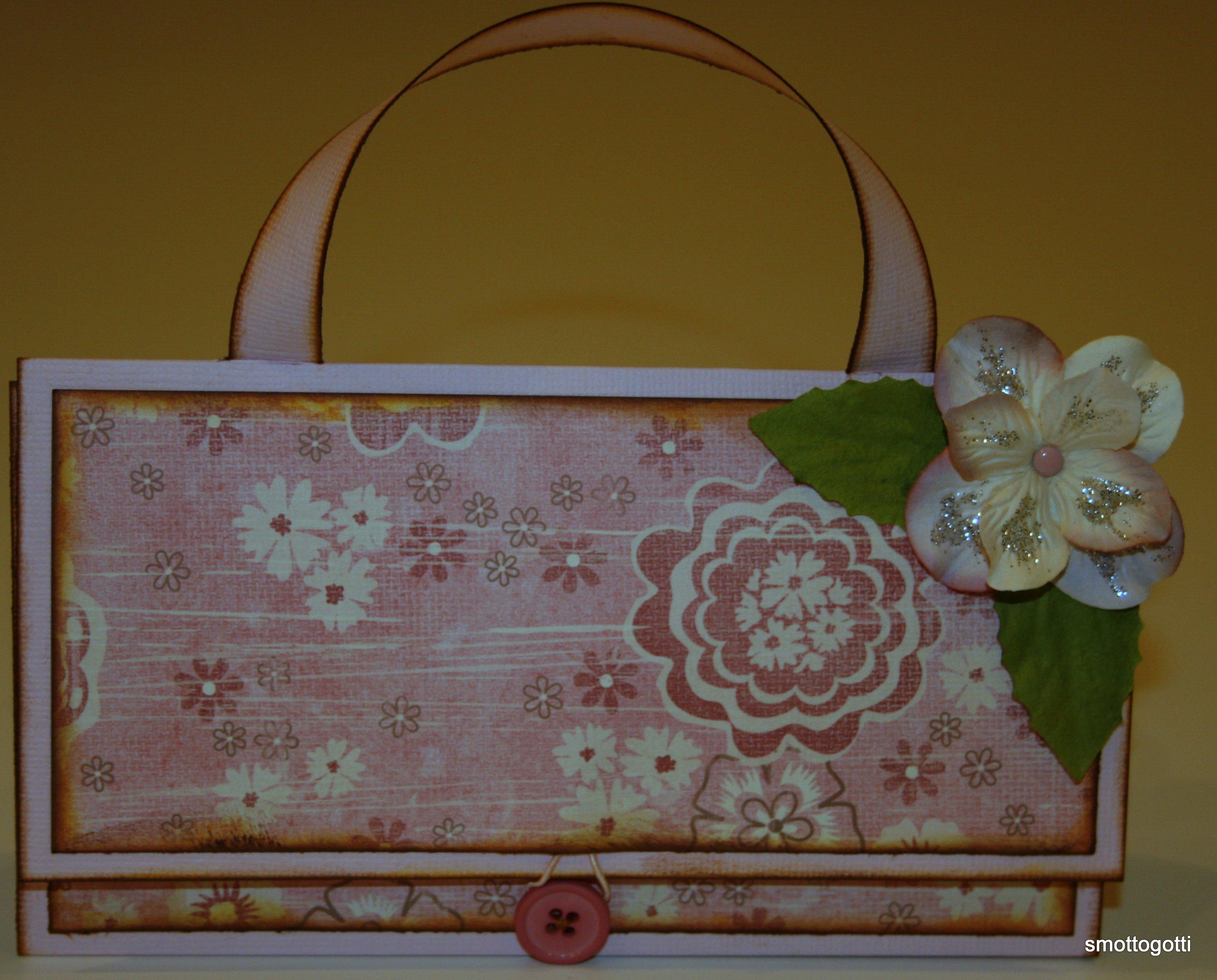 Väskkort i rosa